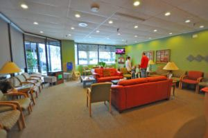 DFK office interior waiting room
